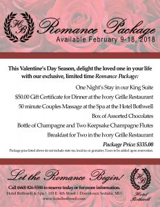 enjoy remember great times with hotel bothwell valentine hotel packages